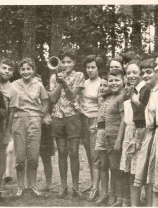 Jakub Gorfinkel na koloniach Towarzystwa Społeczno-Kulturalnego Żydów w Polsce, 1960 rok.