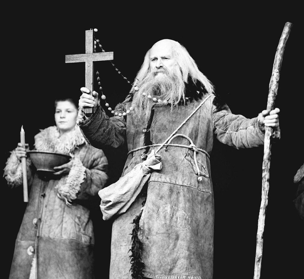 """Kazimierz Opaliński in a performance of """"Dziady"""" at the National Theatre, Warsaw, 1967. Photo: PAP"""