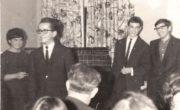 Jakub Gorfinkel w klubie lubelskiego oddziału Towarzystwa Społeczno-Kulturalnego Żydów w Polsce, 1965 rok.