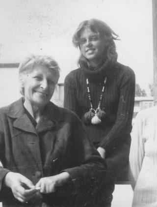 Ewelina Lipko-Lipczyńska z wnuczką i siostra Wandą, Sztokholm 1972